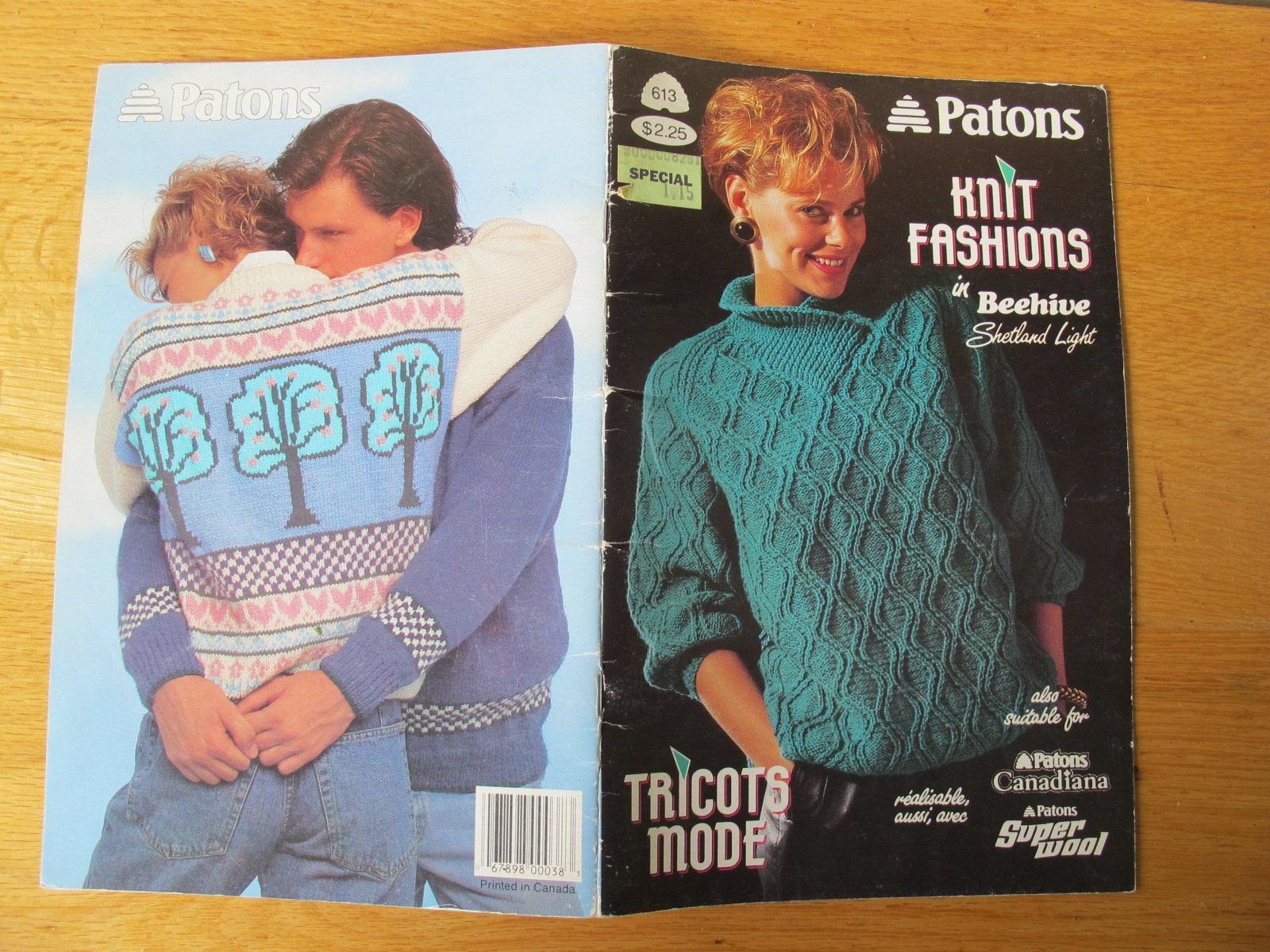 Patons Knit Fashions in Beehive Shetland Light / Fisherman knit ...