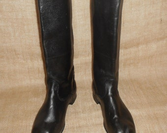 2d893dd727ba Soviet Vintage Russian Army officer's Yuft Jack Boots with leather soles  size 44 (EU 45, US 11)