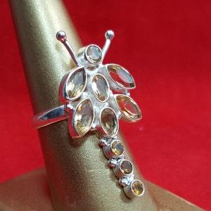 Sterling Silver Rong.925 Stamped Ring.Multi Gemstone Ring.Pearl Ring.Statement Ring.Handmade Ring.Wedding Engsgement Ring.Bridal Ring.R281