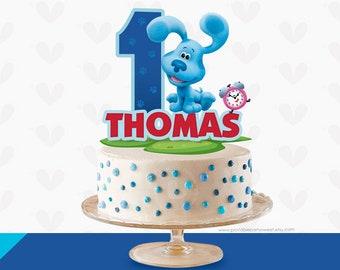 Swell Blues Clues Cake Etsy Personalised Birthday Cards Fashionlily Jamesorg