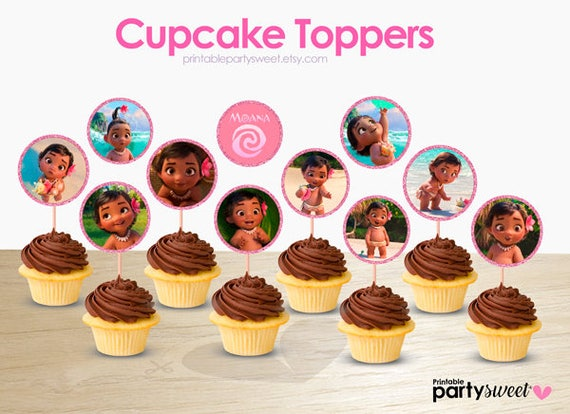 Moana Baby Cupcake Toppers Party Supplies