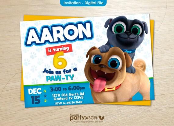 Puppy Dog Pals Invitacion Digital Invitacion De Cumpleaños Puppy Dog Pals Puppy Dog Pals Invitacion Para Imprimir