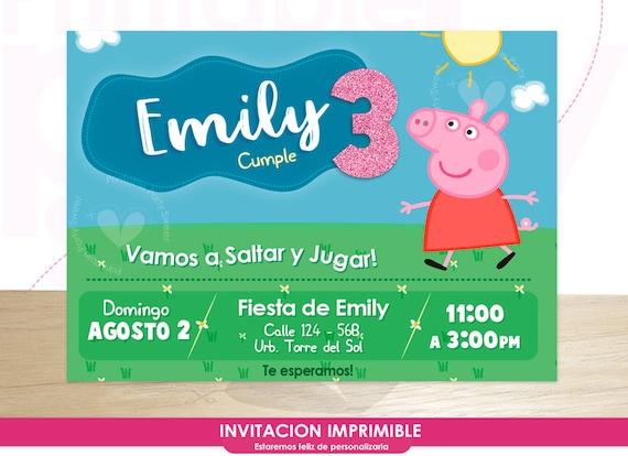 Invitacion De Cumpleaños Peppa Pig Tarjeta De Invitacion Peppa Pig Imprimir Invitacion Personalizada Peppa Pig