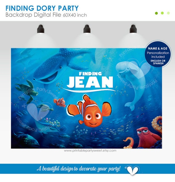 Finding Nemo Birthday Party Decorations  from i.etsystatic.com