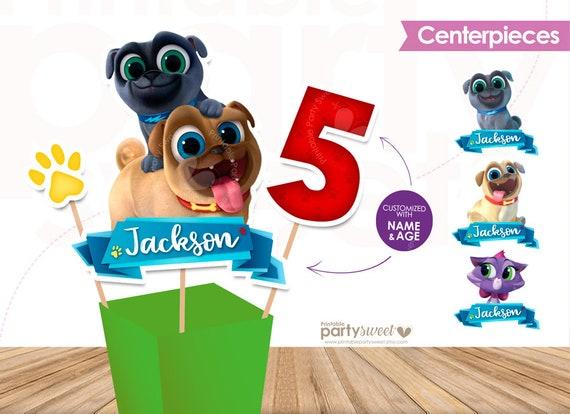 Cucciolo Cane Pals Disney Centro Tavola Compleanno Cucciolo Etsy