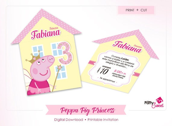 6 Peppa Pig Party Invitations Unisex Birthday Cards Envelopes FAST DISPATCH