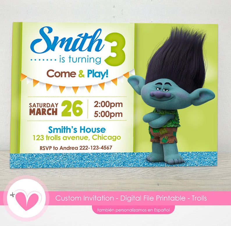 photo relating to Trolls Printable Invitations known as Printable Trolls Birthday Invites, trolls invites, trolls printable invites, trolls birthday celebration invites, boy invites