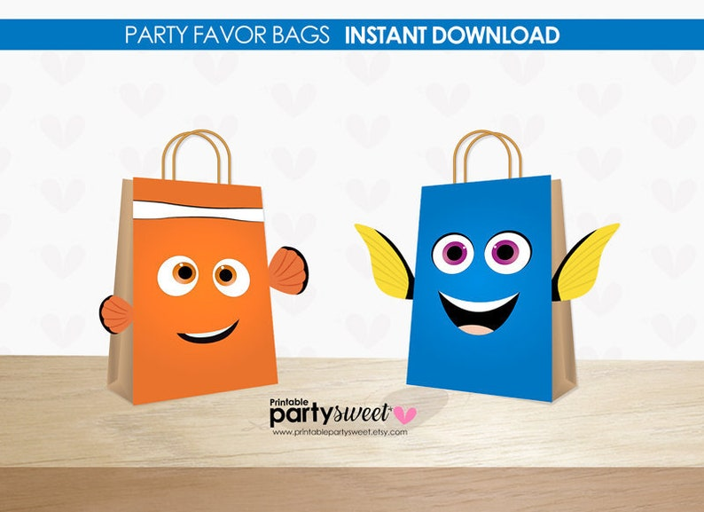 image about Printable Gift Bags named Getting Dory Desire Baggage Social gathering Electronic Information, Locating Nemo Do-it-yourself Printable Reward Bag Dory, Birthday Get together Desire Dory, Social gathering printables