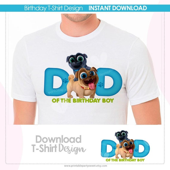 Puppy Dog Pals Personalized Birthday Party Favor Gift T-Shirt NEW