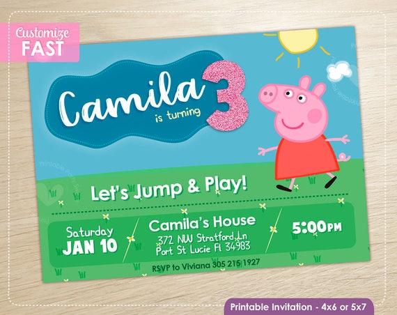 Peppa Pig Birthday Invitation Peppa Pig Party Invite Boy Girl Birthday Printable Invite Digital File