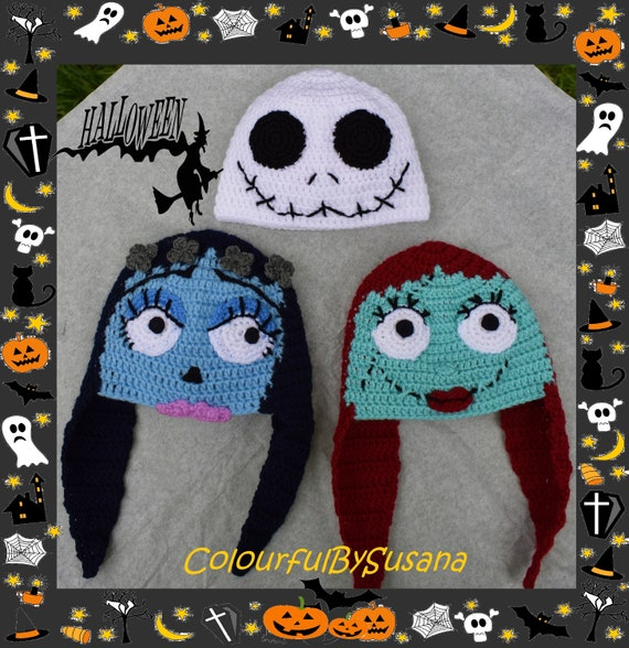 Special Halloween Hats Inspired By Sally Jack Skellington And Etsy
