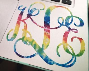 Tie Dye Monogram Decal
