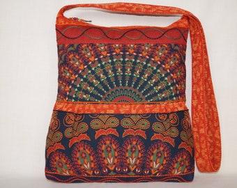 041a6c8ced7 Blauwe zak, groene tas, grote crossbody tas, Indiase tas, zigeuner tas,  kleurrijke tas, tote tas, boho tas, strandtas, etnische tas, bedrukte tas