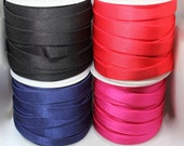 Bra Elastic - Quality Bra Strap Elastic in Black, Navy Blue, Nude, Red & Hot Pink with Satin Face and Plush Back - 15mm/1.5cm Wide