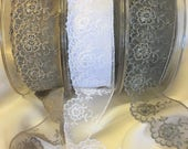 Lace Trim - Exquisite Quality Lace Trim in Taupe, Grey, or White 4.5cm Wide