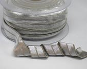 Fold Over Elastic - Silver Metallic Fold Over Elastic - 2cm/20mm wide