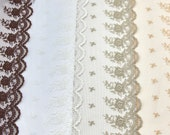 Brown, Ivory, Taupe and Nude Lace - Exquisite Quality Lace - Sold by 1/2 Metre -Lingerie/Bridal/Lace for Dressmaking/Bra Making Lace