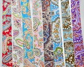 Bias Binding in Multicoloured Printed Paisley Patterns - Soft 100% Cotton Bias Binding, 1inch Wide, Paisley Pattern,2.5cm/25mm Wide