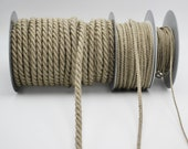Linen Twisted Rope Cord in Three Sizes 2mm, 4mm, 8mm Marcrame, Crochet, Firbre Crafts