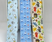 Bias Binding in Designs for Kids, Babies, Toddlers - Superb quality - Sail Boats, Baby Bottles, Monsters Printed Pattern Designs