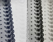 Exquisite Quality Wedding Bridal Lace Trim in White, Black, Navy, Taupe - Vintage Style Lace/Dressmaking Lace/Lingerie Lace/Bra Making Lace/