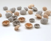 Knobbly Bobbly Gold and Silver Buttons - 15mm and 20mm - Metal Button with Shank
