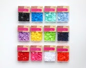 Snap Fasteners - Coloured Plastic Snaps - 12mm -