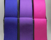 Plush Elastic - Excellent Quality Waistband Wide Elastic in Blue, Purple or Hot Pink - 38mm/3.8cm Wide - High Quality