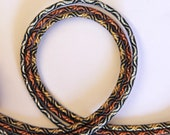 Metallic Braided Cord Elastic in Silver Gold or Copper - approx 3mm Wide