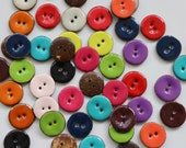 Colourful Enamelled Glazed Lacquered Buttons 18, 22 and 30mm Turquoise/Purple/Green/Burnt Orange/Cherry Red/Pink/Pale Pink/Ivory/Navy