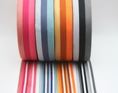 Double Sided Webbing 40mm 100% Polyester Blue, Pink, Grey, Orange
