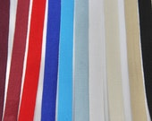 100 % Cotton Herringbone Weave Twill Tape Burgundy, Dark Red, Scarlet, Royal Blue, Turquoise, Sea Foam, White, Cream, Beige, Black 14mm Wide