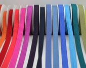 Jersey Binding - Stretchy Double Folded Jersey Binding Trim/Tape Beautiful Quality Viscose & Elastane - Lots of Colours! - 2cm Wide