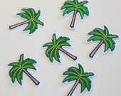 Palm Tree Motif - Iron on Palm Tree Patch - 52x63mm