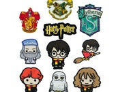 Harry Potter Themed Motifs/Iron-on Applique Patches - Harry Potter, Dumbledore, Ron Weasley, Hermione Granger, Gryffindor, Hogwarts, Hedwig