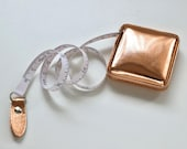Rose Gold Retractable Tape measure - Pocket Size - 150cm Long Fully Extended - Sewing Gift