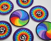 Handmade Motifs Spiral Rainbow and Rainbow Ohm