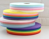 Multicoloured Striped Bag Strap Webbing in Four Rainbow Colour ways - Sold by the Metre - 40mm Wide