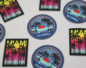 Miami and California Motifs Iron on High Quality Embroidered Motifs/Patches