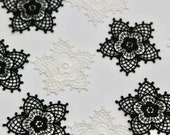 Lace Flower Patch in Blac...