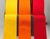Plush Elastic - Wide Waistband Elastic in Yellow, Orange or Red 38mm/3.8cm Wide - Excellent Quality