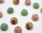 Diamanté Floral Cluster Vintage Style Buttons with Shank 2cm