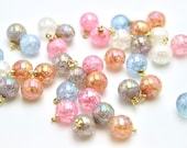 Moonstone Bauble Buttons Plastic Button on Shank 15mm