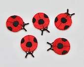 Ladybird Motif/Patch -- High Quality iron on patch with Embroidery Stitching 2.5 x 2cm