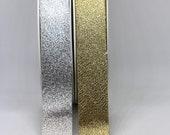 Metallic Bias Binding - Gold or Silver - 20mm/2cm Wide