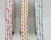 Retro Floral Print Bias Binding in Three Colour ways - 20mm Wide - Sold by the Metre