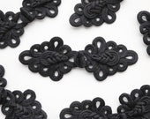 XL Frog Fastener - Giant Knotted Clasp - 16cm x 6cm - Costume, Coat, Victoriana