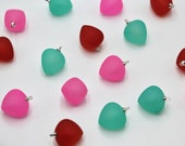 Jelly Candy Buttons  - Frosted Plastic with metal shank - Pink - Red - Aqua Green - 19mm