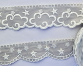 Embroidered Star Trim  or Embroidered Cloud Trim