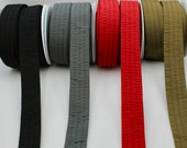 Quality Woven Padded Quilted Strapping  - 38mm Wide Red, Grey, Olive Green, Black - Sold By the Metre